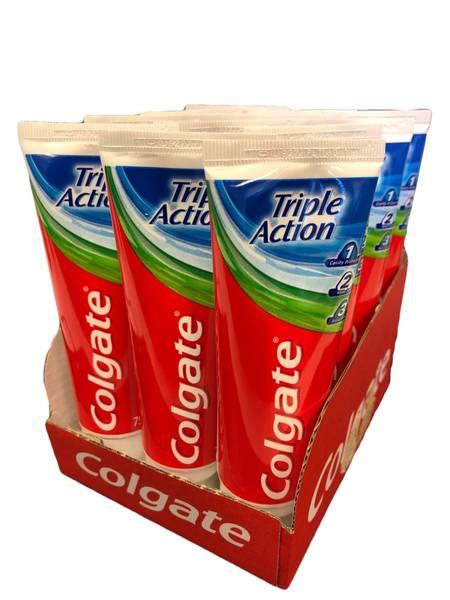 Bilde av Colgate tripleaction 12x75ml HEL ESKE