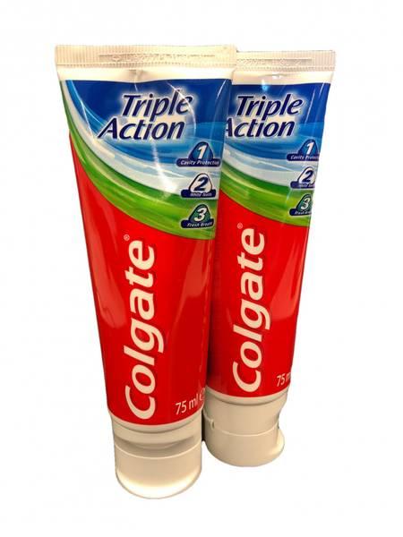 Bilde av Colgate triple action 75ml 2pk