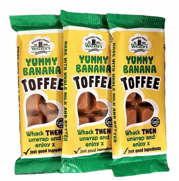 Bilde av Walker's Yummy Banana Toffee 3x50g
