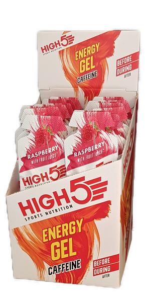 Bilde av High 5 energy gel med koffein bringebær smak