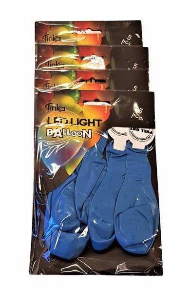 Bilde av Led-light ballong Blå 4x5 stk