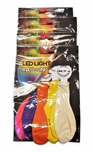 Bilde av Led-light ballong ass Farger 4x5 stk