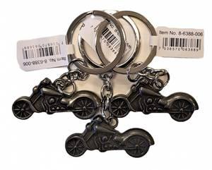 Bilde av Nøkkelring i Metall 3-pk Motorsykkel