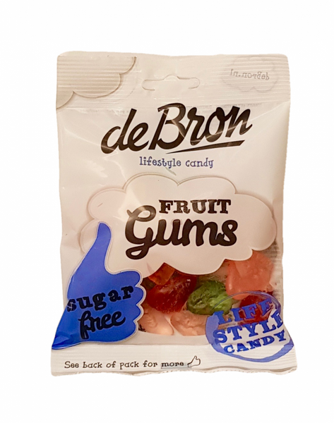 Bilde av De Bron Fruit Gums Sukkerfri 100g