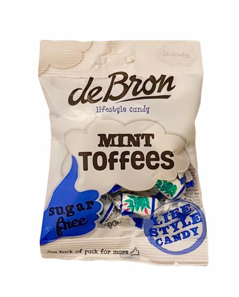 Bilde av De Bron Mint Toffees Sukkerfri 100g