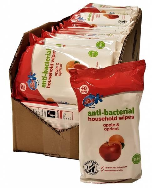 Bilde av Anti-bacterial Wipes Apple & Apricot 32x40 stk