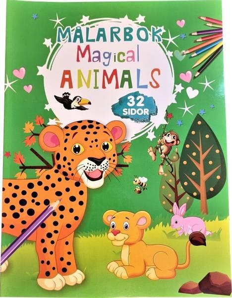 Bilde av Tegnebok Magical dyr 32 sider