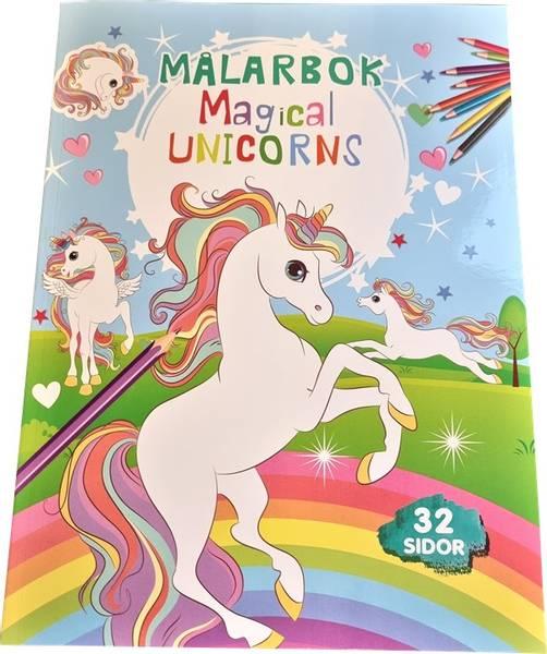 Bilde av Tegnebok Magical Unicorns 32 sider