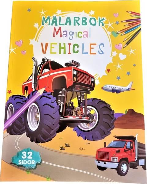 Bilde av Tegnebok Magical biler 32 sider