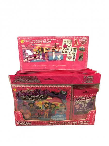 Bilde av Love to shop klistermerkebok 24pk HEL ESKE