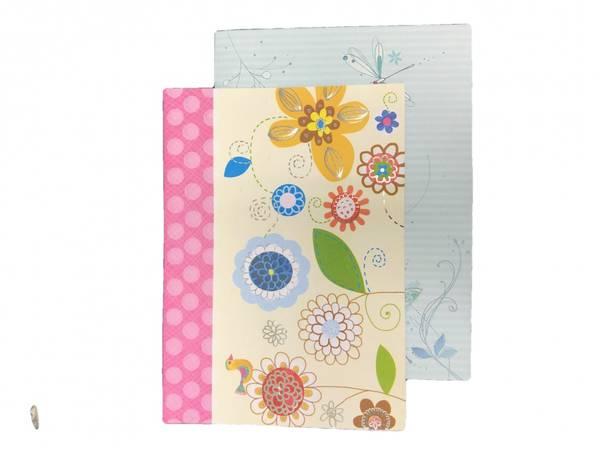 Bilde av Kort dobbel m. konvolutt blomster 12pk