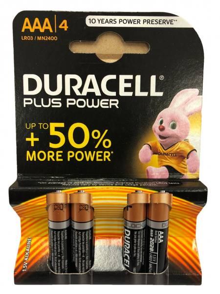 Bilde av Duracell Pluss Power AAA  4pk
