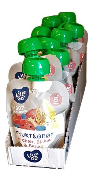 Bilde av Lille go frukt & grøt med jordbær,10x90g HEL ESKE