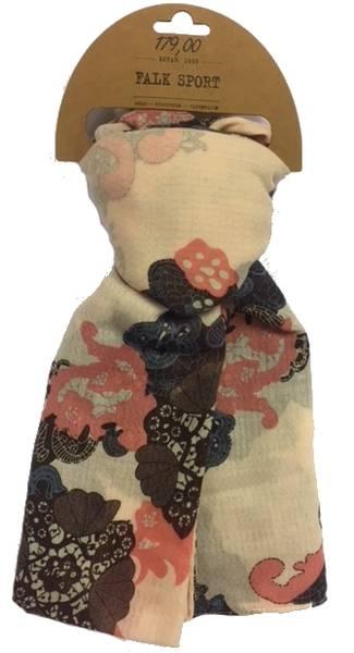 Bilde av Skjerf til Dame Blomst mørk lilla