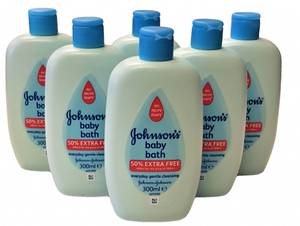 Bilde av Johnsons Baby Bath 6stk 300ml HEL ESKE