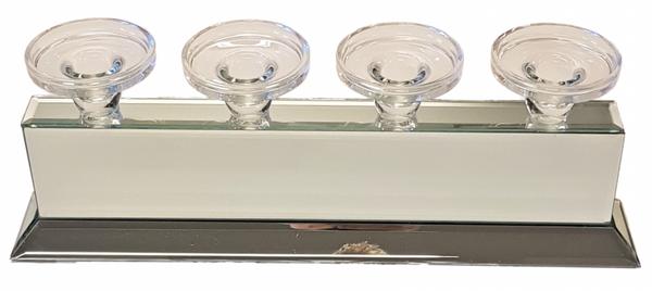 Bilde av Telys/lysholder for 4 lys Speil/Glass