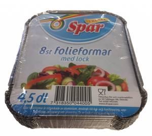 Bilde av Spar Folieformer med Lokk 4,5dl 8st