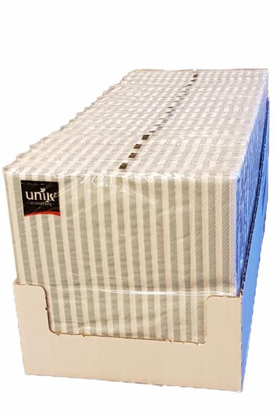 Bilde av Servietter blå striper 33x33 cm 17x20stk hel eske