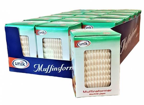 Bilde av Unik Muffinsformer Klorfritt papir. 18x200stk HEL