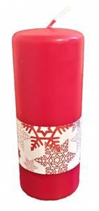 Bilde av Unik Kubbelys rød m/julestjerne 6x15cm