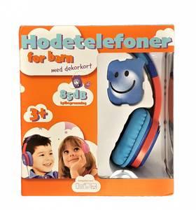 Bilde av Hodetelefoner for barn m/dekorkort Blå