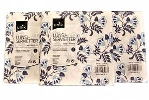 Bilde av Unik Lunsj servietter 3-lags 33x33cm 3x20stk