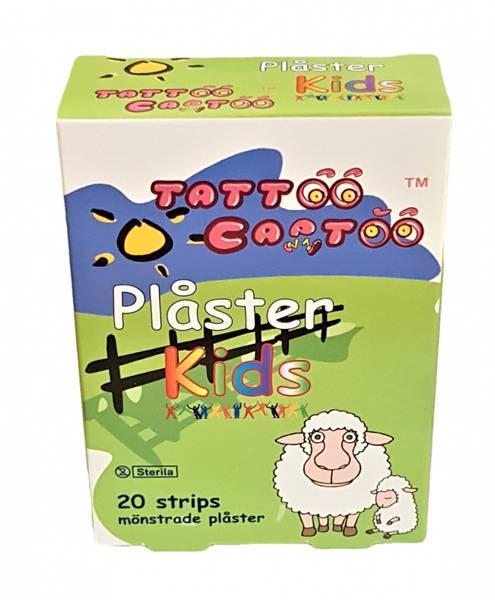 Bilde av Plaster, Barn, Tattoo Cartoo. 20stk. Med flere