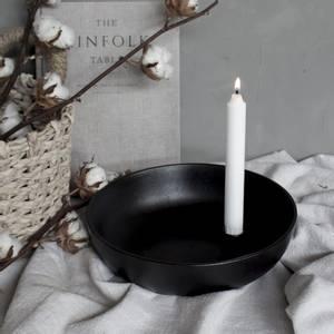 Bilde av Lidatorp blank svart ljusstake XL