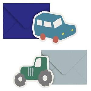 Bilde av Kort med konvolutt, 2 stk, Little Driver