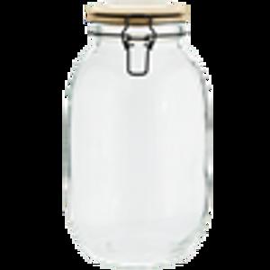 Bilde av GLASS JAR W/ BAMBOO LID 14x26,5cm