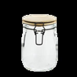 Bilde av GLASS JAR W/ BAMBOO LID D11,5x14cm