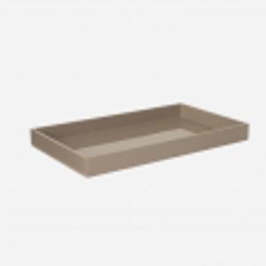 Bilde av Lacquer tray 32x16 brown grey