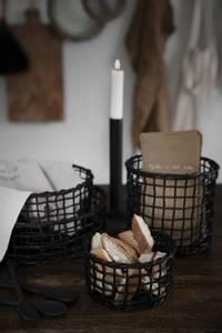 Bilde av Korgsett, svart, ass. str.
