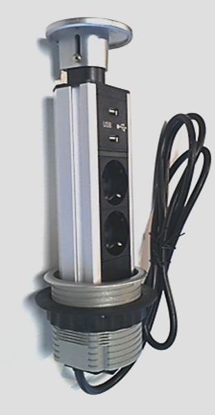 PoPuP 2x stikk 2x USB 16A