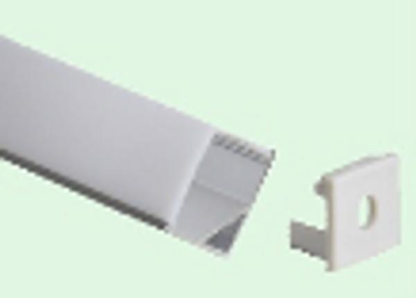 Alu. hjørneprofil CornerTone 16X16 mm Q 2m m/opal front