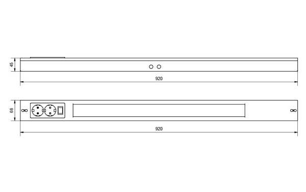 Namsen 900 Hvit m/ 2 x kontakt 1300lm 3000K Ra>80 Faseavsnitt