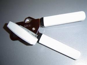 Bilde av Boksåpner, hvitt håndtak