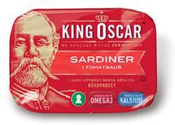 King Oscar sardiner i tomatsaus