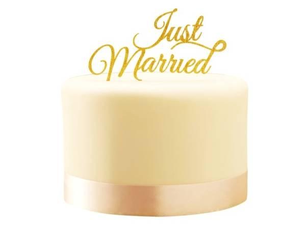 Bilde av Just Married Caketopper