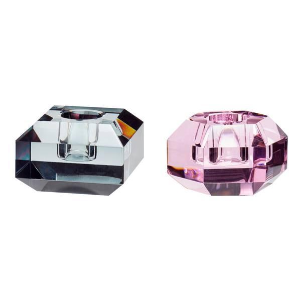 Bilde av Lysestake Krystall sett med 2