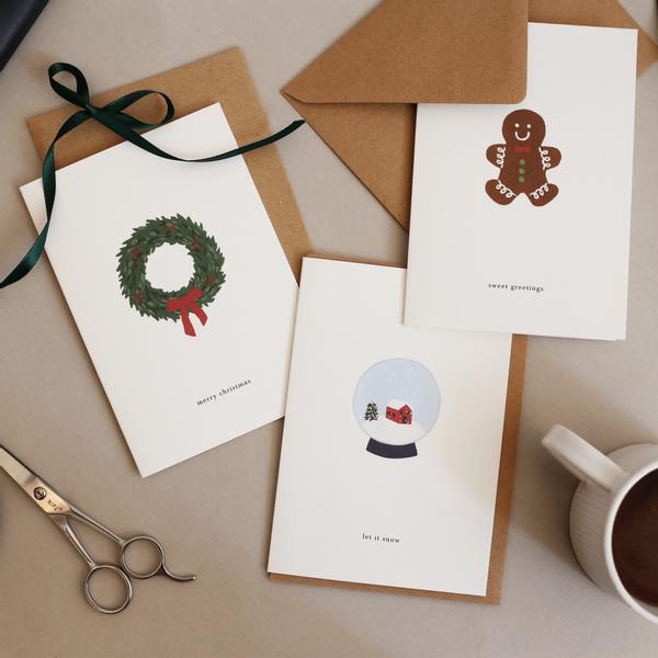 Bilde av Julekort - Snøkule