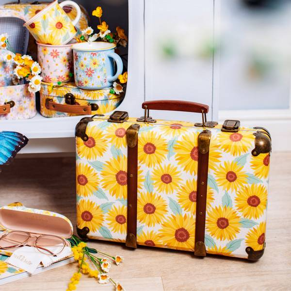 Bilde av Vintage Sunflower Suitcase -