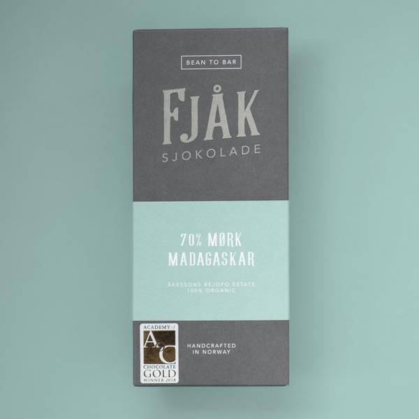 Bilde av Fjåk 70% mørk Madagaskar