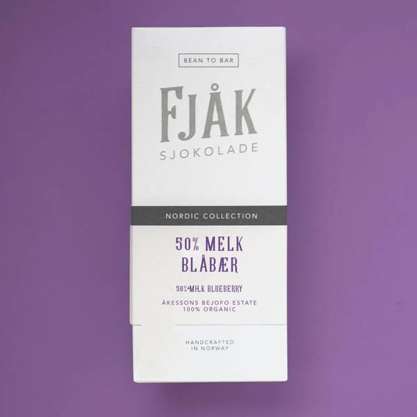 Bilde av Fjåk 50% Melk & Blåbær