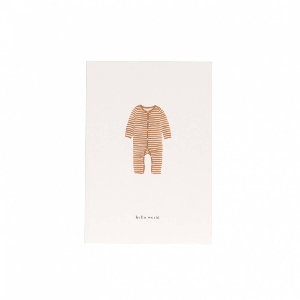 Kort - Baby Onesie Ochre (Hello World)
