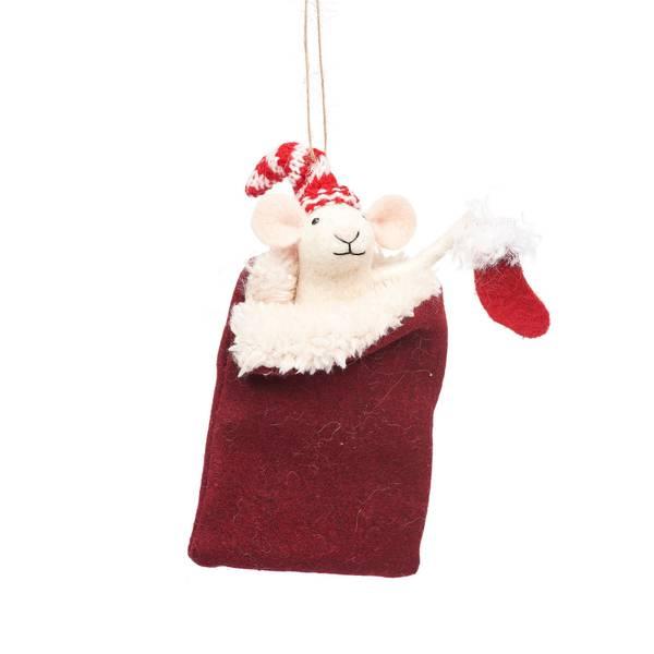 Bilde av Julepynt - Mus i sovepose -
