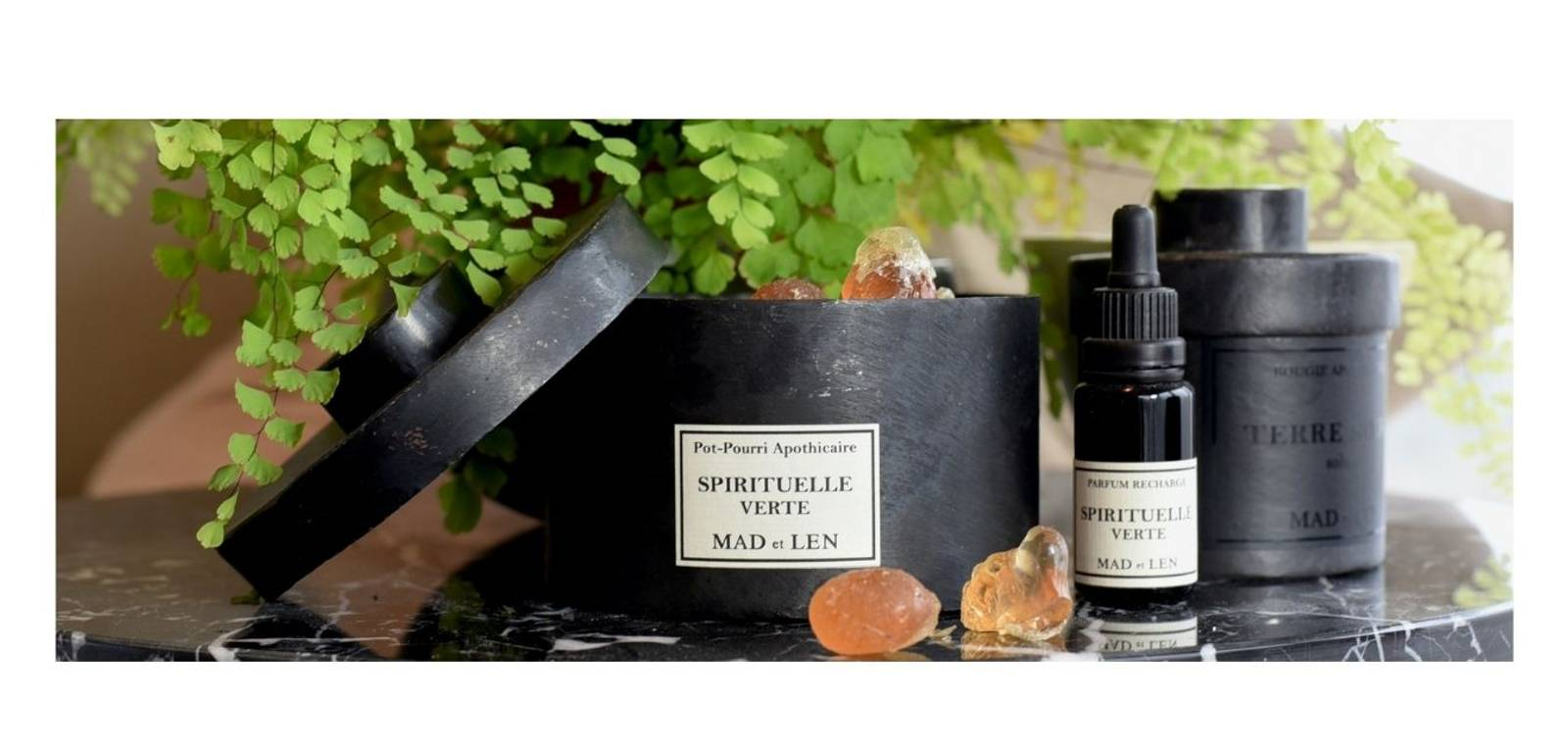 MAD ET LEN duftlys pot pourri crystals krystaller perfume fransk artisanale handmade exclusive