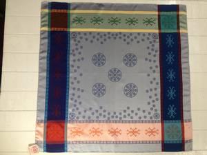 Bilde av 2104 Gravyr sjal, Blå