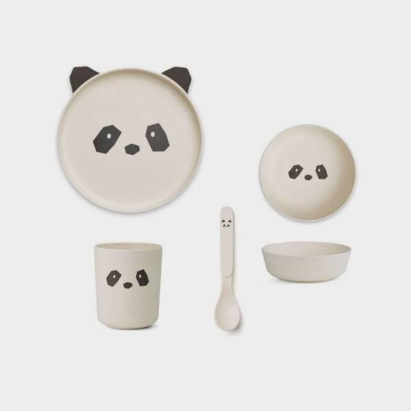 Bilde av Barneservise Box Set Bambus Panda