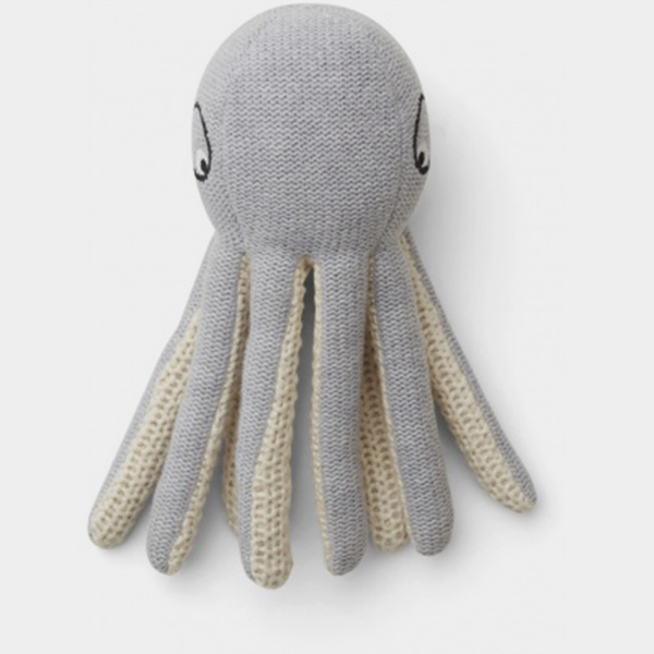 Bilde av Octopus minibamse Ole Grey Melange